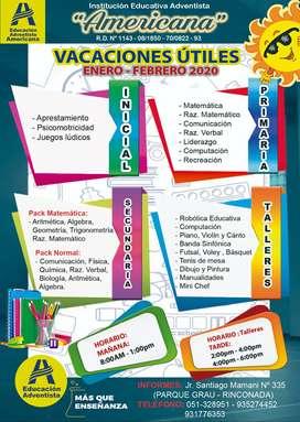 CICLO VACACIONAL 2020