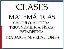 Profesor de matemáticas, física, cálculo, estadística para bachillerato y universidad.