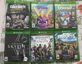 Vendo o cambio juegos para Xbox one