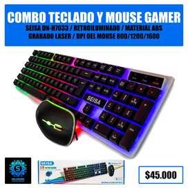 Combo Teclado y Mouse Gamer Seisa DN-H7033