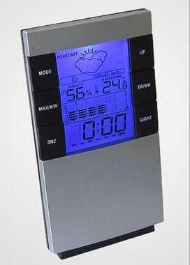 Reloj multifunción con luz y temperatura