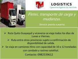 Fletes, transporte de carga y mudanzas