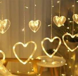 Luz Luces Cascadas de corazones LED cajón de 24 unidades.
