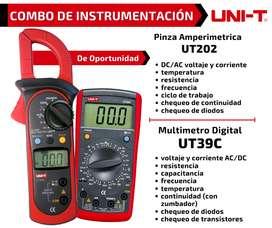 Oferta especial COMBO: Multimetro + Pinza Amperimetrica