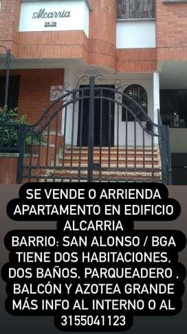Se vende o arrienda apartamento en san Alonso
