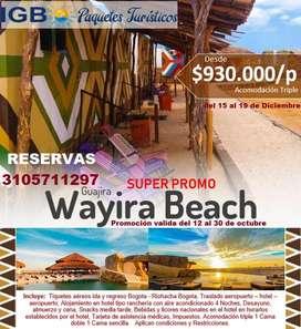 LA GUAJIRA  Todo Incluido desde 930.000/p -IGB Viajes y Turismo, Paquetes Turísticos para todos