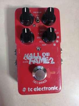 Pedal Analogo TC Electronic Hall Of Fame 2 Reverb usado