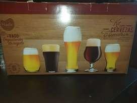 Set vasos cervezeros