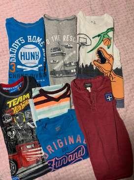 Lote de camisetas niño