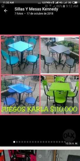 Sillas Y Mesas para Restaurante, Cafeter