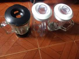 Vasos de Licuadora Vidrio y Plastic con tapa