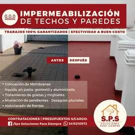 IMPERMEABILIZACIONES DE TECHOS Y MUROS. EFECTIVAS Y GARANTIZADAS