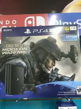 Play Station 4 Pro con Call Of Duty Moder Warfare