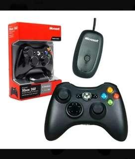 Joystick Xbox 360 Inalambrico + Adaptador Ideal Pc Original