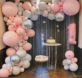Decoración de fiestas y eventos de todo tipo
