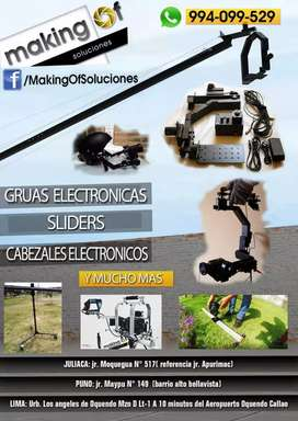 CABEZALES ELECTRÓNICOS, GRUA PARA FILMACIONES