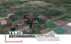 TERRENO EN RECONQUISTA S.F.
