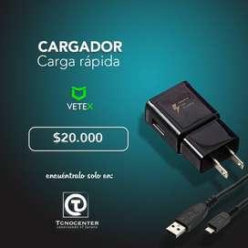 Cargador Carga Rapida Tipoc y MicroUSB, nuevo, Garantia, Compatible con la mayoria de marcas, TIENDA FISICA