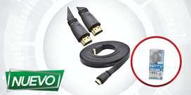 CABLE HDMI PLANO  FULL HD 1080 1.5M 3M ¡DOMICILIO GRATIS BAJO COSTO!