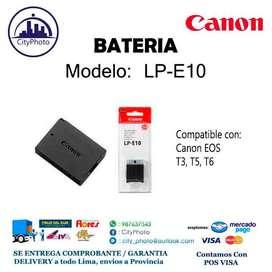 Bateria Canon Lp E10 Para Canon T3, T5, T6 T7 T100 Nuevo