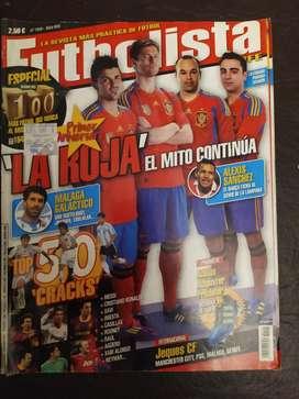 revistas futbolista numero 100 , de coleccion
