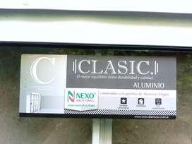 Abertura de aluminio, marca nexo aberturas- clasic