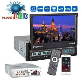 Radio Para Carro Pantalla Retractil 7 Pulgadas Hd Dvd Tv USB.