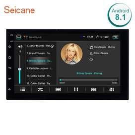 Auto radio de 7 pulgadas Android 8.1 Bluetooth GPS WiFi táctil todas las tarjetas
