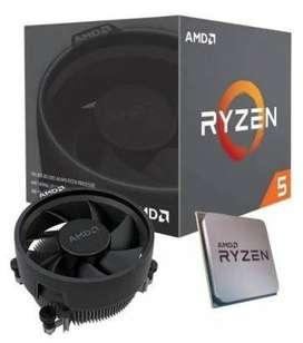 Procesador gamer AMD Ryzen 5 3400G YD3400C5FHBOX de 4 núcleos y 3.7GHz de frecuencia con gráfic
