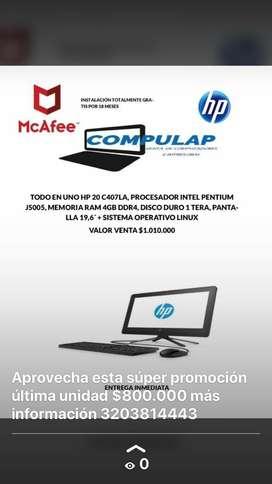 Computador todo en uno marca HP