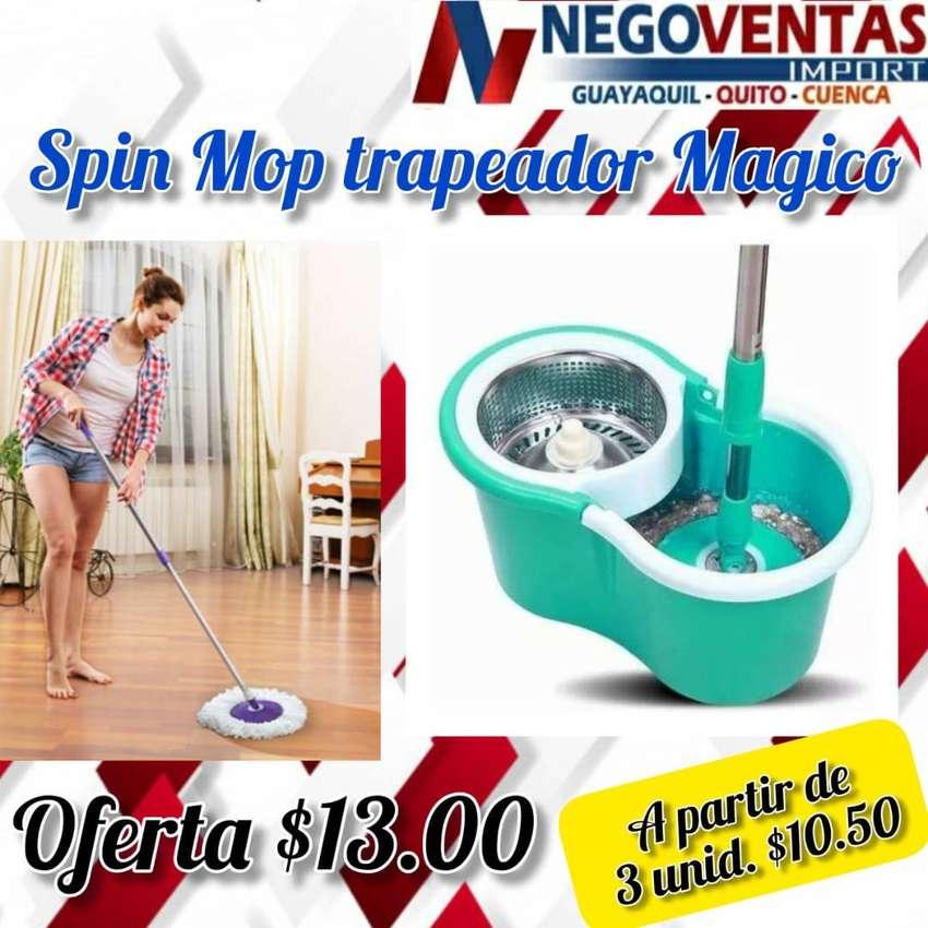TRAPEADOR SPIN MOP CON CESTA METALICA 0