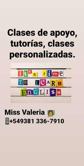 Profesora particular de inglés en Tucumán