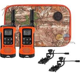 Motorola Radios Comunicación T265 40km Walkie Talkie Recarga