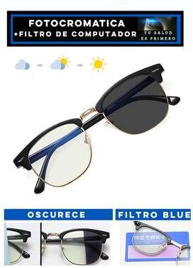 Gafas Transition con Filtro Anti luz azul clubmaster rb3016
