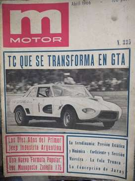 MOTOR ABRIL 1966 NRO 335 JEEP ARGENTINO
