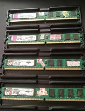Remate de Memoria RAM DDR2 2Gb para PC, Kingston