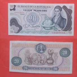 Billete 20 Pesos Enero 1 1982 Circulado