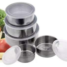 Juego de recipientes tazones bolws acero inoxidable cocina