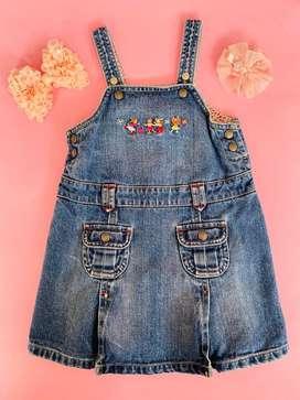 Overol de jean importado para niña