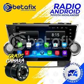 RADIO ANDROID PARA TOYOTA HIGHLANDER SISTEMA JBL GPS BT USB WIFI BETAFIX