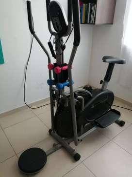 Bicicleta y caminadora estatica