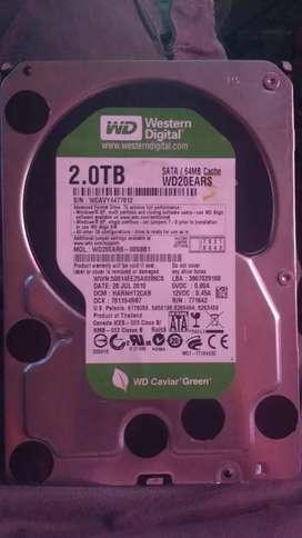 Disco rígido western digital 2.0tb  64mb