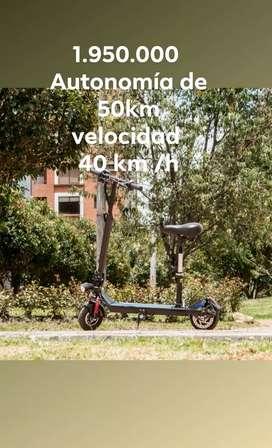 Scooter patineta eléctrica  auto 50 km y 40 km/h