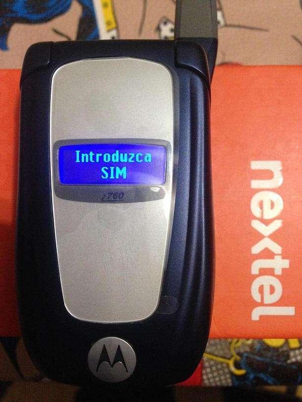 radio nextel flip con tapa i765 blue nuevo sin uso 0
