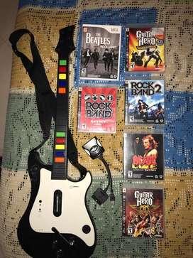 Guitarra Híbrida para Play 2, Play 3 Y Wii.
