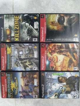 6 Juegos para Ps2 Originales