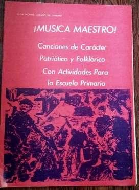 MÚSICA MAESTRO CANCIONERO PATRIÓTICO Y FOLKLÓRICO ED. TEMPO