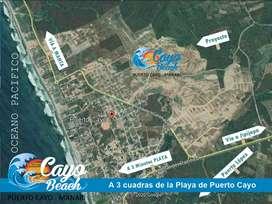 Venta de Lotes Playeros en Puerto Cayo, Avistamiento de Ballenas, Adquirre tu terreno Playero y disfruta de la vida. S1