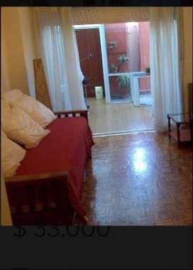 alquiler temporal Belgrano departamento 2 ambientes amueblado y equipado con patio parrilla