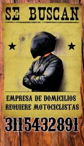 Necesito personal con moto para trabajar en domicilios en la ciudad de tunja boyacá